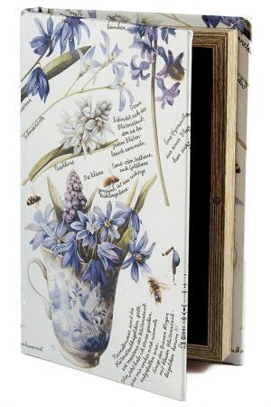 Шкатулка 21х14х3см Русские подарки. Цвет: белый, синий