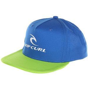 Бейсболка с прямым козырьком детская  Corpo Mid Peak Cap Lime Rip Curl. Цвет: синий,зеленый