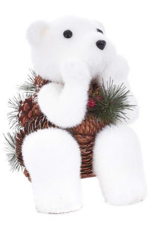 Скульптура Снежный Мишка DUE ESSE CHRISTMAS. Цвет: коричневый, белый
