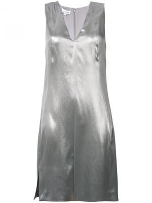 Платье с эффектом металлик Mercury Narciso Rodriguez. Цвет: серый