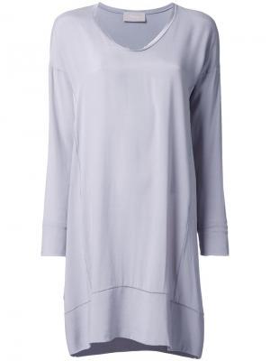 Платье-футболка Drumohr. Цвет: серый