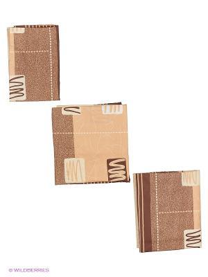 Комплект постельного белья Евро биоматин Кофе-Хаус Унисон. Цвет: бежевый, белый, коричневый