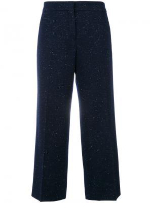 Широкие укороченные брюки Pringle Of Scotland. Цвет: синий