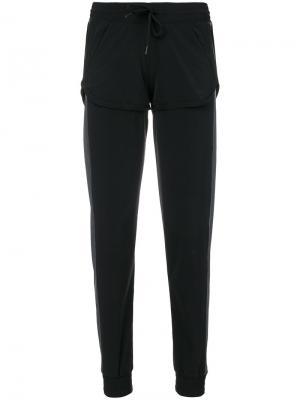 Свободные спортивные брюки Sàpopa. Цвет: чёрный