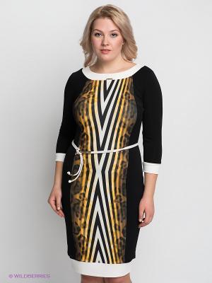 Платье VERDA. Цвет: черный, желтый