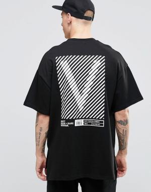 Vision Air Футболка в стиле милитари с заниженной линией плеч. Цвет: черный