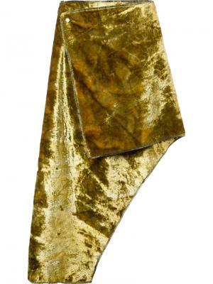 Асимметричная юбка Eckhaus Latta. Цвет: зелёный