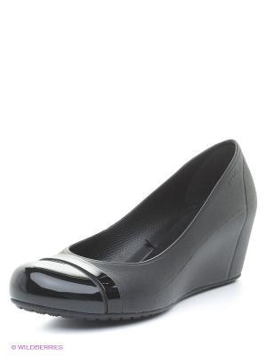 Туфли CROCS. Цвет: черный