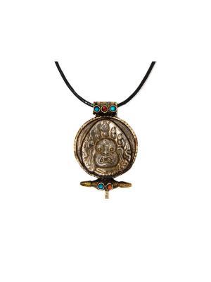 Подвеска с тибетским божеством Indira. Цвет: бронзовый, темно-коричневый, хаки