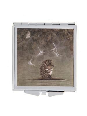 Зеркальце карманное Ежик плывет Арт. Chocosq-005 Chocopony. Цвет: коричневый, антрацитовый
