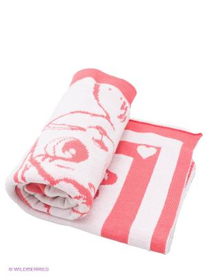 Плед Лео. Цвет: розовый, белый