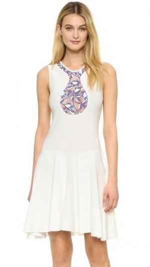 Платье без рукавов Giambattista Valli. Цвет: белый/розовый/синий
