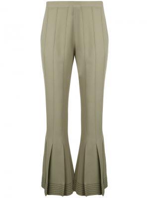 Укороченные брюки клеш Marco De Vincenzo. Цвет: зелёный