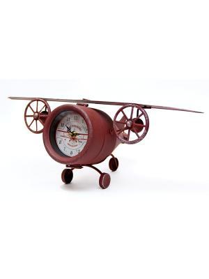 Часы Самолет настольные кварцевые  48x25x17 Magic Home. Цвет: коричневый