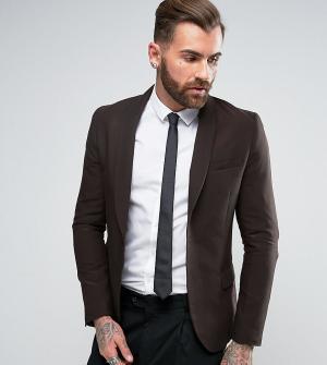 Only & Sons Зауженный пиджак с шалевым воротником. Цвет: золотой