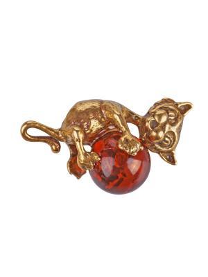 Фигурка - подвеска Кот с шаром Aztek. Цвет: желтый, коричневый, светло-оранжевый
