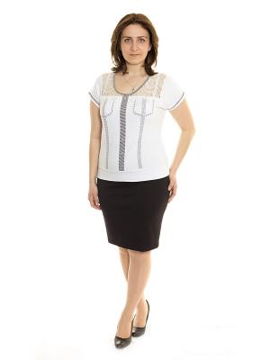 Блузка Siman Fashion. Цвет: белый