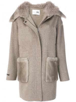 Пальто с капюшоном Manzoni 24. Цвет: телесный