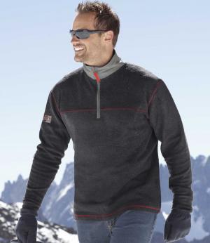 Пуловер из Флиса AFM. Цвет: серыи
