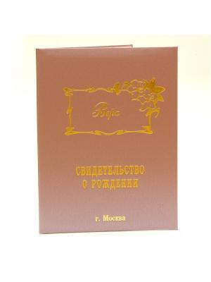 Именная обложка для свидетельства о рождении Вера г.Москва Dream Service. Цвет: розовый