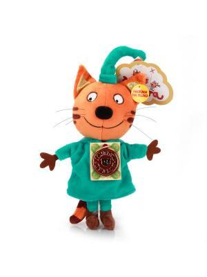 Мягкая игрушка мульти-пульти 3 кота. Компот 16см. Цвет: оранжевый, зеленый