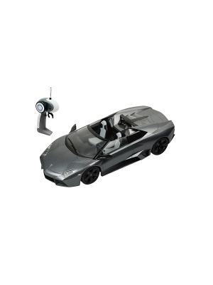 Р/у  Lamborghin i Reventon Roadster Машина на батарейках, в коробке AULDEY. Цвет: черный, серый