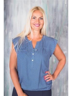 Блузки AVILA. Цвет: синий