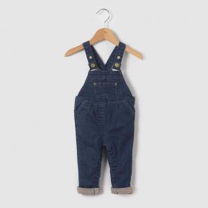 Комбинезон из денима, 1 месяц - 3 года R essentiel. Цвет: джинсовый