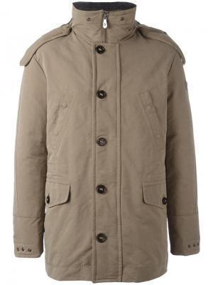 Пуховое пальто с капюшоном Peuterey. Цвет: телесный