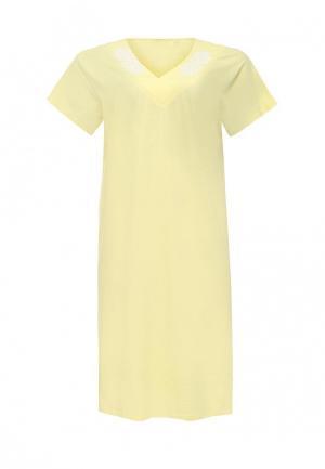 Сорочка ночная Vis-a-Vis. Цвет: желтый