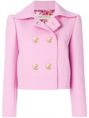 Двубортный пиджак Emilio Pucci. Цвет: розовый и фиолетовый