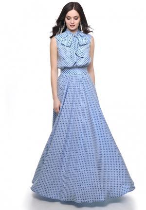 Платье Olivegrey. Цвет: голубой