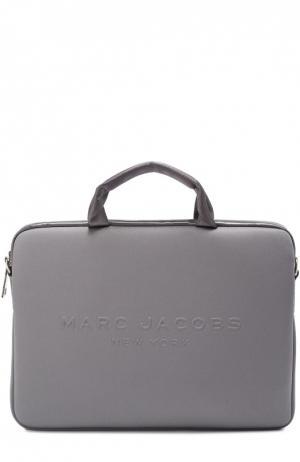Сумка для ноутбука с логотипом бренда Marc Jacobs. Цвет: серый