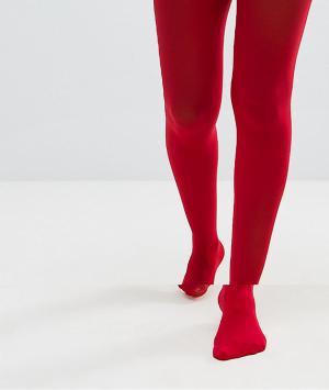 ASOS Красные колготки плотностью 40 ден. Цвет: красный
