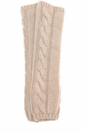 Вязаные митенки из кашемира Kashja` Cashmere. Цвет: светло-бежевый