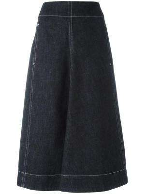 Джинсовая юбка с завышенной талией Lemaire. Цвет: синий