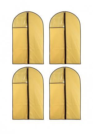 Комплект чехлов для одежды 4 шт. El Casa. Цвет: желтый