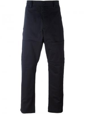 Классические брюки Oamc. Цвет: синий