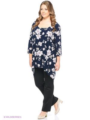 Блузка BERKANA. Цвет: темно-синий, молочный, черный