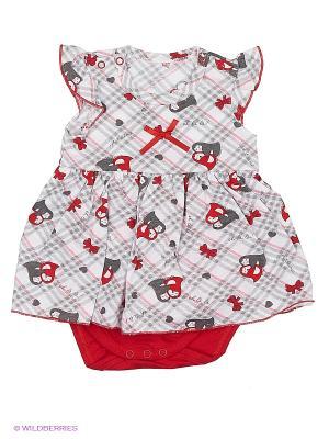 Боди-платье Наша Мама. Цвет: светло-серый