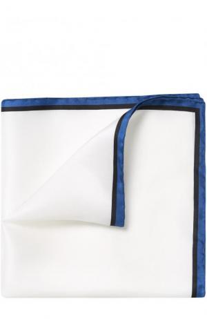 Шелковый платок с контрастным кантом Lanvin. Цвет: белый