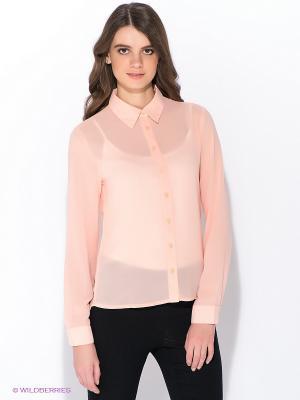 Блузка Oodji. Цвет: персиковый