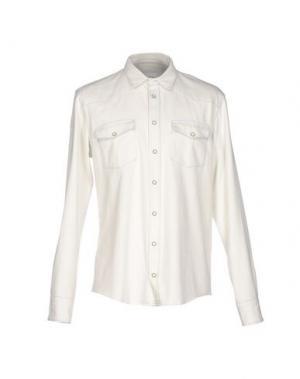 Джинсовая рубашка DONDUP. Цвет: слоновая кость