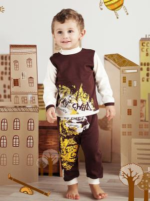 Джемпер Lucky Child. Цвет: коричневый, светло-бежевый