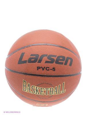 Мяч баскетбольный Larsen. Цвет: терракотовый, черный