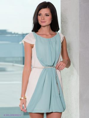Платье Esley. Цвет: кремовый, морскаяволна