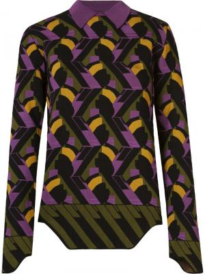 Geometric knit blouse Gig. Цвет: чёрный