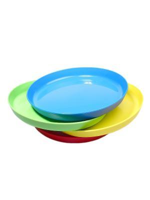 Тарелка - 4 шт. Migura. Цвет: синий, зеленый, красный, желтый