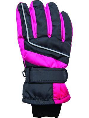 Перчатки YO!. Цвет: черный, розовый