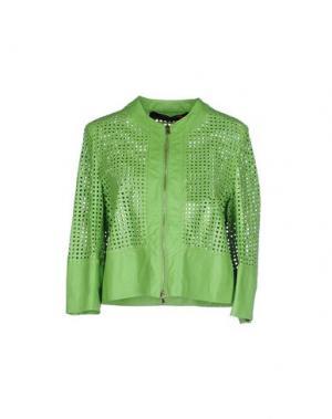 Куртка TRE CINQUE SETTE. Цвет: кислотно-зеленый